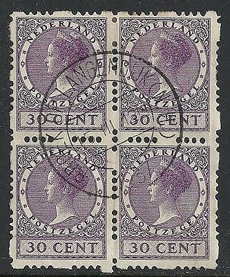 Netherlands stamps 1928 NVPH Roltanding 53  Bloc of 4  CANC  VF