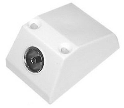 1 X Surface Mounted Tv/fm Aerial Coaxial Wall Socket Outlet House Single Adapter