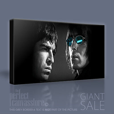 OASIS NOEL & LIAM GALLAGHER STUNNING ICONIC CANVAS POP ART PICTURE Art Williams