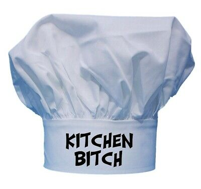 Kitchen Bitch Funny White Chef Hats For Kitchen Cooking With Toque Hats