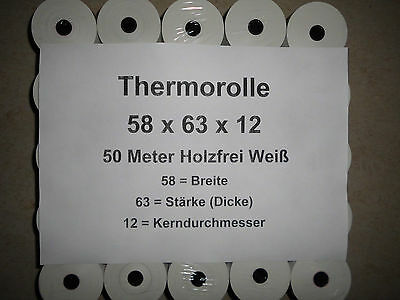 0,02€/m_20 Thermorollen 58mm x 50m  Sharp XE-A177/213/207/217 Olympia CM942...