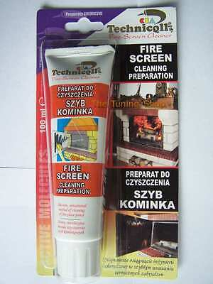 1 x CLEANER FOR FIREPLACE STOVE GLASS FIRE SCREEN OVEN 100ml high quality NEW