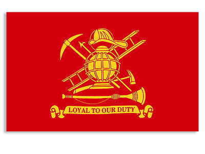 3x5 inch Loyal to Our Duty Firefighter Flag Sticker - decal fireman fire helmet