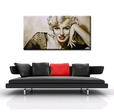 Marilyn Monroe In your eyes Quadro stampa su tela 50x100 vernice pennellate