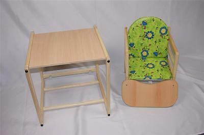 Feed me now ! Wooden High Chair Toddler Child's Table & Chair Boy Girl Highchair