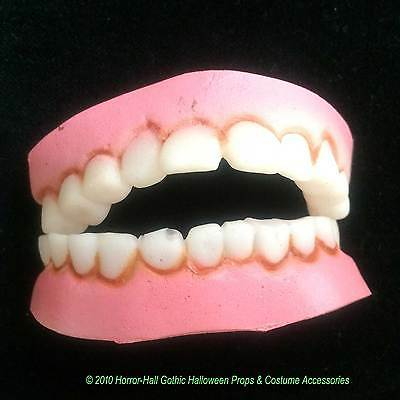 Funny Nerd Geek-BUCK TEETH DENTURES-Redneck Hillbilly Costume-Kids Teens-SMALL