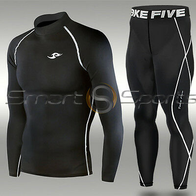 Mens Sports Skin Tight Motorcycle Motor Racing Baselayer Compression Suit S-XXL
