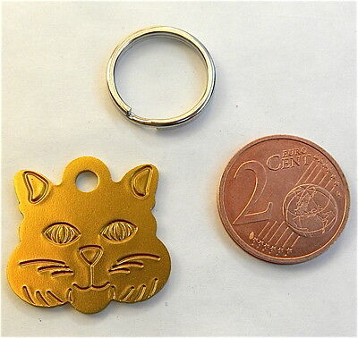 medaille gravée OR pour chat chaton gravure offerte