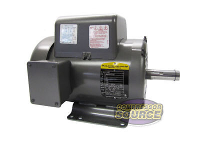 5 HP Single Phase Baldor Electric Compressor Motor 184T Frame # L1430T 230 Volt