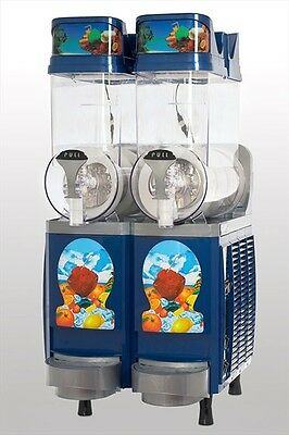 New Blue Faby 2 Bowl with Timer Frozen Drink Machine