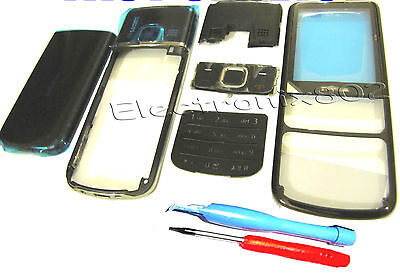 For Nokia 6700 Classic Fascia Housing Battery Cover Screen Lens Keypad Black +TL