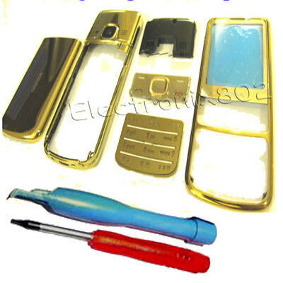Fascia Housing Cover Keypad Screen Lens Gold +Tools For Nokia 6700 Classic 6700c