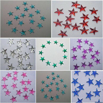 50 x 8mm flat back rhinestone star gems/cardmaking/scrapbooking