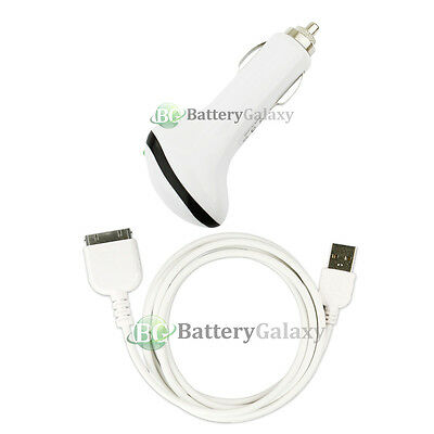NEW USB Mini Car Charger+Cable Data Cord for TAB TABLET PAD Apple iPad 2 2nd GEN