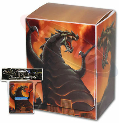 Yugioh Max Protection Destructor Deck Box w Divider (Holds 75 Cards)