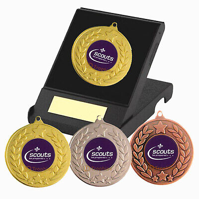 Scouts Medal in Presentation Box - F/Engraving - Scouts Be Prepared Trophies