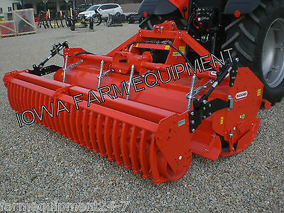 "Rotary Tiller with Cultipacker Roller, H-Duty Maschio SC300 123"": 170HP Gearbox"