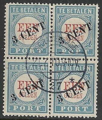 Netherlands stamps 1906 NVPH Due 27 Bloc of 4  CANC  F/VF