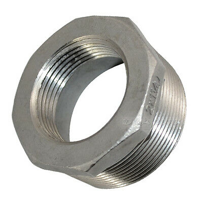 "2"" Male x 1 1/4"" female Stainless Steel threaded Reducer Bushing Pipe Fitting"