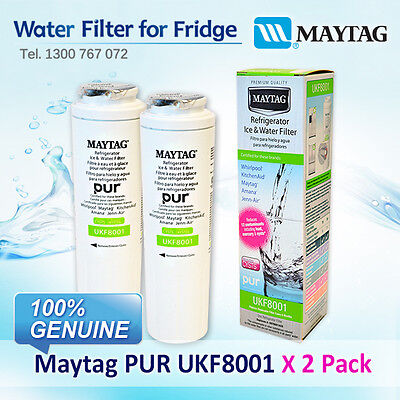 2 x Amana Maytag Jenn-Air Puriclean II Filter UKF8001AXX 100% GENUINE FILTER