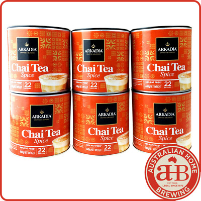 EOFY SALE Arkadia Chai Tea Spice x6 440g Chai latte powder chai recipe