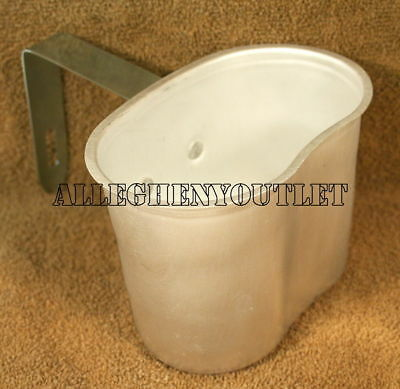 NEW Military WWII Style Heavy Gauge Aluminum Canteen Cup #513 w Folding Handle