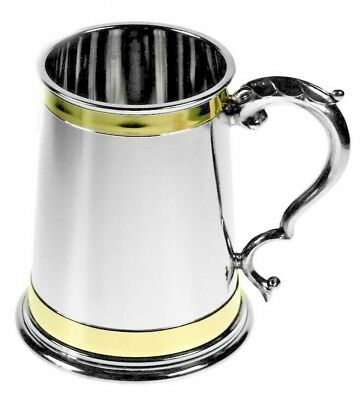 Personalised 1 Pint Monarch Style Pewter Tankard - Engraved Gift