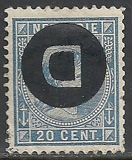 Netherland Indies stamps 1911 NVPH Service 4f Inverted Ovpt  MLH  VF