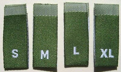 4T 500 pcs LIME GREEN WOVEN TODDLER CLOTHING LABELS SIZE TAGS 2T 3T