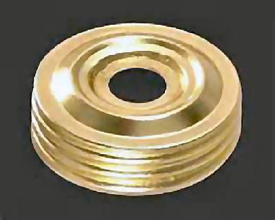 Solid Brass Threaded Cap for Aladdin Electric Table Lamps - Not Made by Aladdin