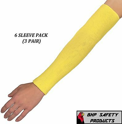 Dupont 18'' Kevlar Cut Resistant Sleeve 18 Inch 2 Ply Washable (6 Pack/ 3 Pair)