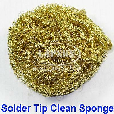 Soldering Solder Iron Tip Cleaner Clean Tool Copper Wire Sponge Cleaning Ball UK