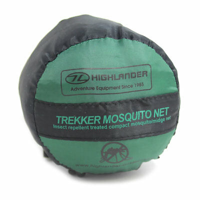 Highlander Trekker Mosquito Net Insect Repellent Treated Camping Travel