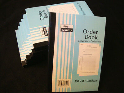Wholesale 10 x Order book (100 leaf) Duplicate Carbonless Books 13.5 x19cm Bulk