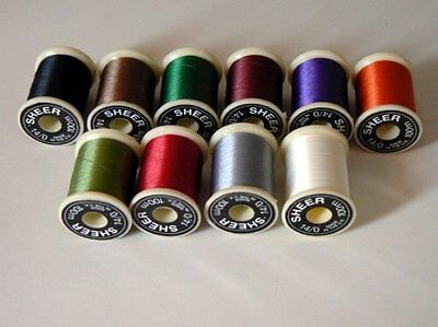 14/0 Sheer FlyTying Thread 13 colours