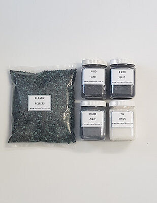 Tumbling GRIT KIT rock tumbler polish  abrasive lapidary pack VALUE Australia