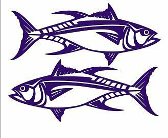 Pair of Tuna Stickers 500 x 210 each sticker
