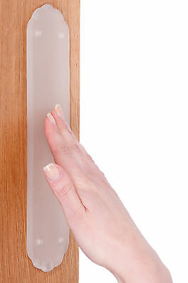 Frosted Glass finger plate (Scalloped)
