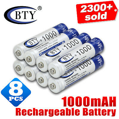 8x 1.2V 1000mAH AAA NI-MH Recharge Rechargeable Battery New