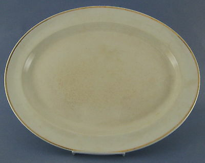 Wood & Sons Large Oval Platter Cream Gold Trim England AS IS