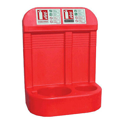 Jonesco Moulded Pod Double Fire Extinguisher Stand Red
