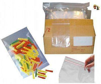 lot de 100 Emballages Pochette Pochon Sachet plastique transparent Zip bag 50x70