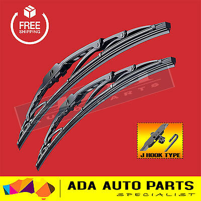 Metal Frame Windscreen Wiper Blades For Holden Commodore VB VC VH VK (PAIR)