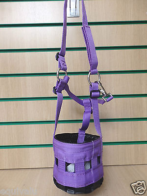 New Nylon Grass/grazing Muzzle Pony, Cob, Full, Extra Full **purple**