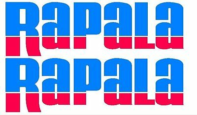 2 x Rapala Stickers 275mm x 85mm 2 Colour Blue / Red