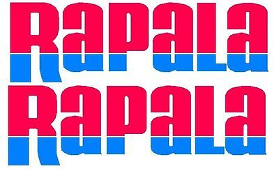 2 x Rapala Stickers 275mm x 85mm 2 Colour Red / Blue