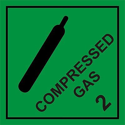 Compressed Gas Hazard Warning Sign Magnetic Signs Vehicle Grade Magnetic