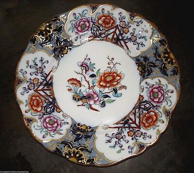 Attractive antique Victorian plate, w impressed SEMI CHINA mark on base