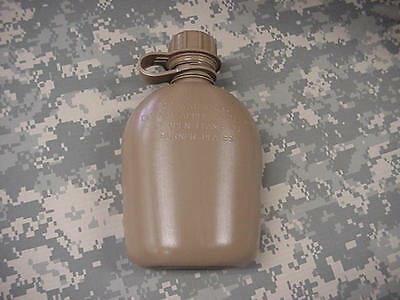 New, Us 1 Quart Collapsible Plastic Canteen, Coyote Tan
