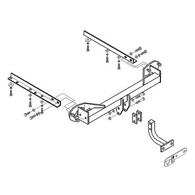 Towbar for Subaru Forester 2008 On - Flange Tow Bar